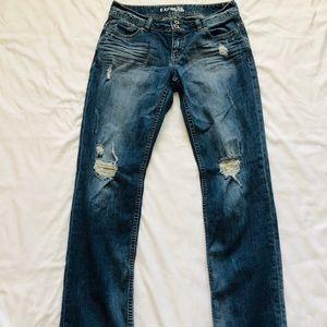 Express Boyfriend Ankle Jeans
